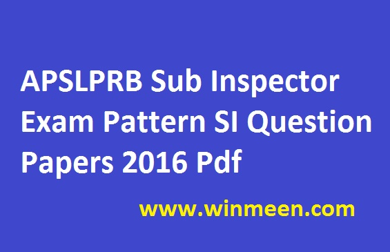 TSLPRB SI Previous Papers PDF Telangana Police Sub Inspector Model Papers