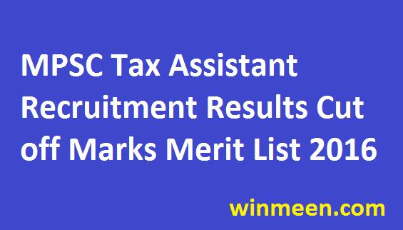 MPSC Kar Sahayak Recruitment Results Tax Assistant Cut Off marks Merit List Download 2016