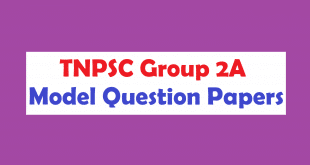 TNPSC Group 2A Model Question Paper with Answer in Tamil
