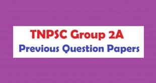 TNPSC Group 2A Previous Question Papers