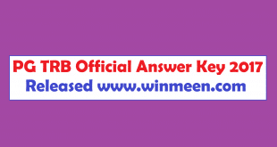 PG TRB Official Answer Key 2017