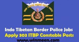 Indo Tibetan Border Police Recruitment 2017 Apply 303 ITBP Constable Vacancies