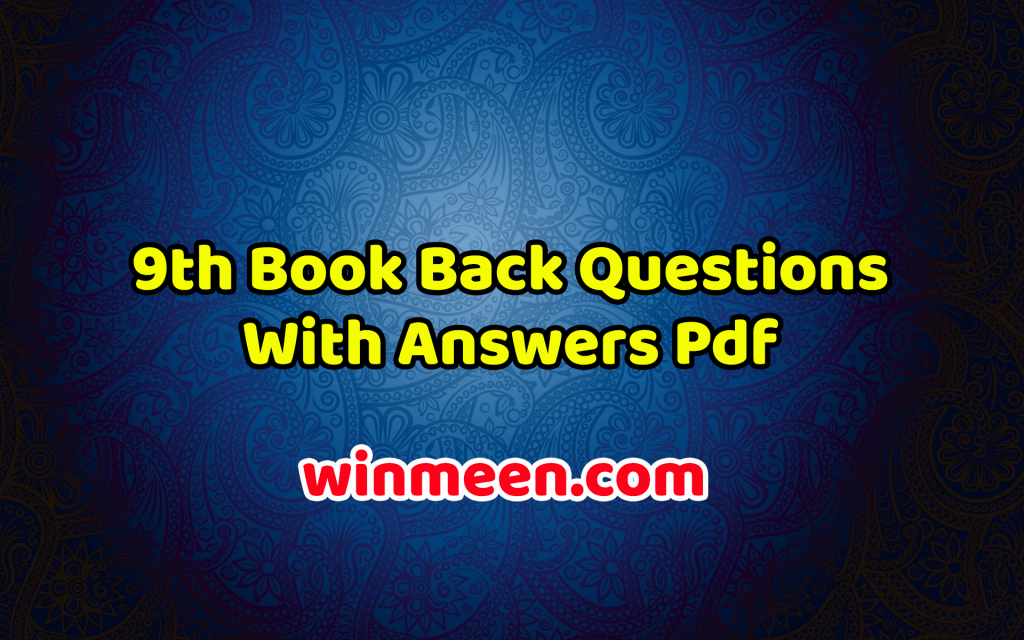 9th Book Back Questions With Answers Pdf - Samacheer Kalvi